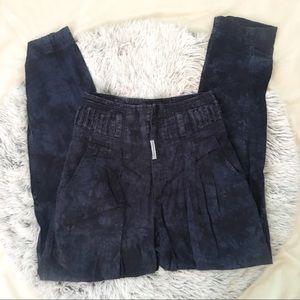 VTG 1990s BLUE TIEDYE TAPERED HIGHWAISTED PANTS